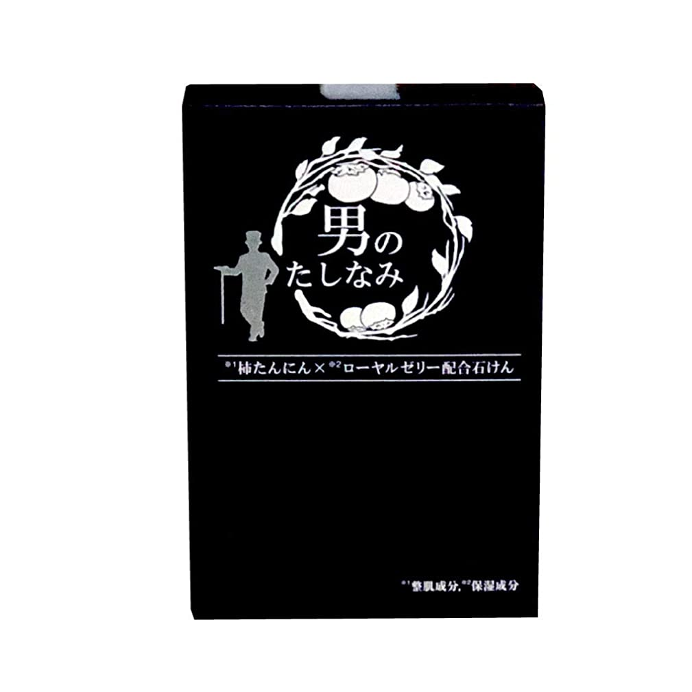 負メロドラマティック記録柿渋石鹸 男のたしなみ 100g (単品)