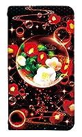 [Galaxy Note10+ SC-01M] ベルトなし スマホケース 手帳型 ケース ギャラクシーノートテンプラス 8261-E. 泡沫幻想_椿 かわいい 可愛い 人気 柄 ケータイケース ゴシック