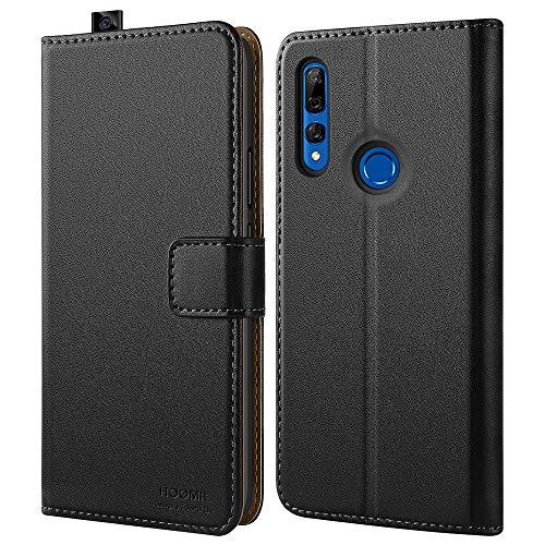 HOOMIL Handyhülle für Huawei P Smart Z Hülle, Premium PU Leder Flip Schutzhülle für Huawei P Smart Z/Y9 Prime 2019 Tasche, Schwarz