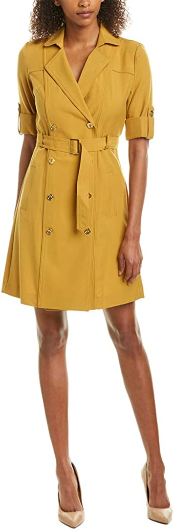 Sharagano Women's Double Breasted Shirt Dress