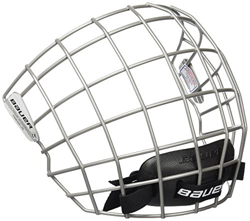 Bauer FM2100 Ice Hockey Helmet Face Mask Cage with Mounting Hardware - CSA, CE, HECC Certified (Silver, Small)