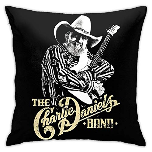 with Pillow Insert Charlie Daniels Super Soft Home Decoration Cushion Hold Pillow for Bed Sofa Throw Pillow for Living Room Sofa Bedroom 18 X 18 in (45 X 45 cm)