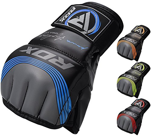 RDX MMA Handschuhe Maya Hide Leder Kampfsport Sparring Freefight Sandsack Trainingshandschuhe Grappling Gloves(MEHRWEG)