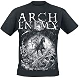 Photo de Arch Enemy My Apocalypse Homme T-Shirt Manches Courtes Noir L, 100% Coton, Regular/Coupe Standard