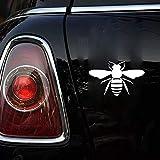 16.5cmx10.2cm etiqueta de la abeja de la miel etiqueta engomada del coche apicultor apicultor para la etiqueta engomada de la ventana del ordenador portátil del coche