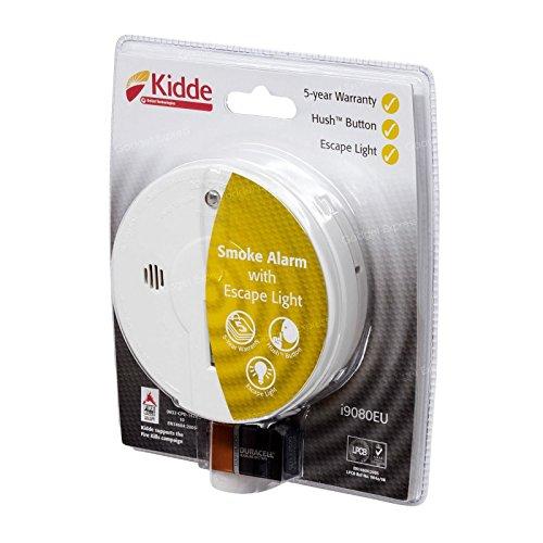 Kidde i9080 Smoke/Fire Alarm Detector with Emergency Escape Light Home...