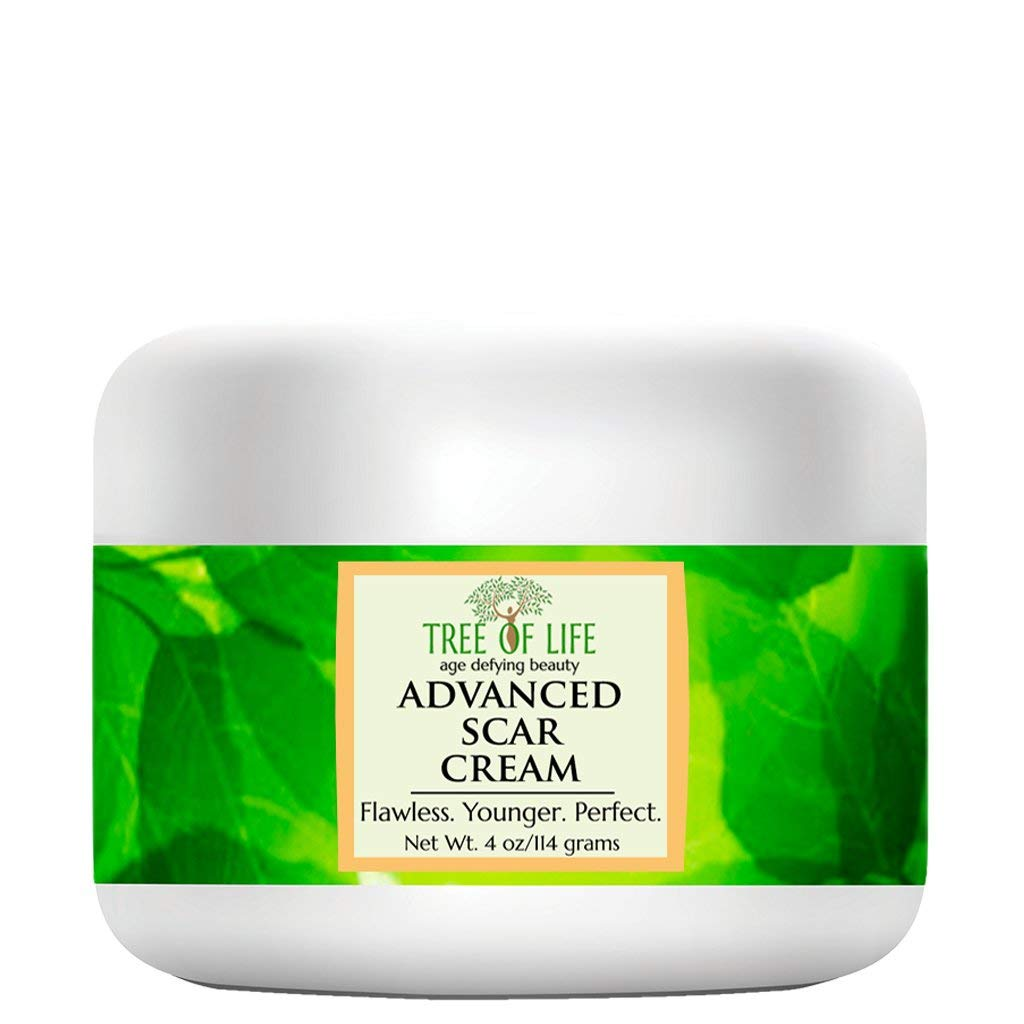 Tree of Life Advanced Scar and Stretch Mark Cream   Skin Moisturizer for Stretch Marks and Scars, 4 Oz : Beauty & Personal Care