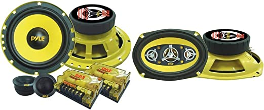 """$71 » 2Way Custom Component Speaker System 6.5"""" 400 Watt Component with Electroplated Steel Basket & Car Eight Way Speaker Syste..."""