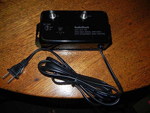 Radio Shack 25dB Signal Amplifier Cat. No. 15-1113C - High Gain Signal Amplifier w/ Adjustable Gain Control UHF VHF FM