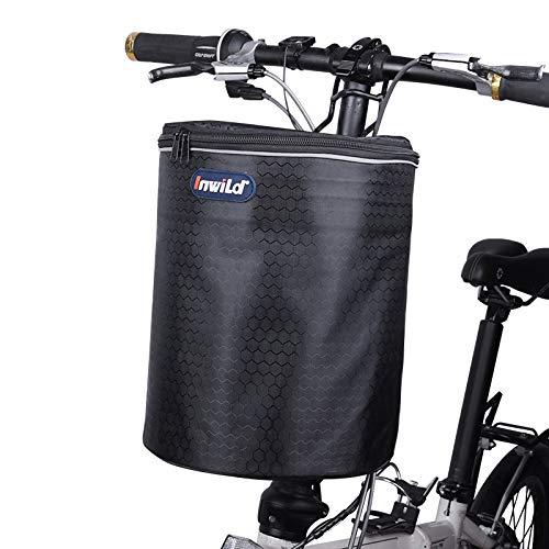 WTTX Cesta delantera para bicicleta, cesta para manillar ext