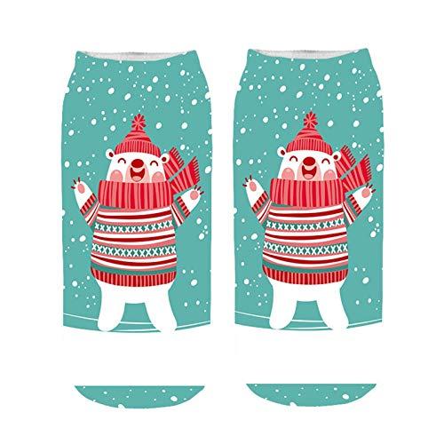 Qsdxlsd Calcetines de Navidad El algodón de Invierno Recta de Navidad calcetín...