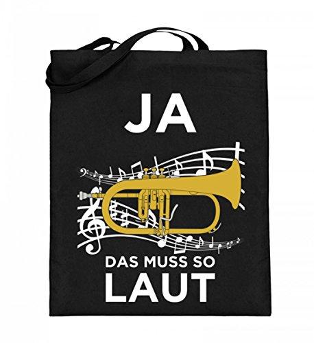 Chorchester Hochwertiger Jutebeutel (mit langen Henkeln) - Flügelhorn muss so laut!