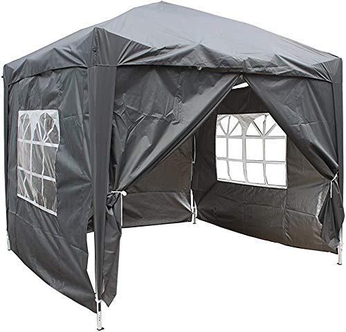 Take 4 Side Panels and Back Capsules, Durable Waterproof Fabrics, pop-ups in The Sky,Anthracite-2m x 2m