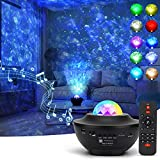 Star Projector Galaxy Projector Light, Rotating Starry Nebula Ocean Wave Projector,10 Colours LED Night Light Projector,Bluetooth Speaker with Remote Control &Timer - for Kids Adults Holidays