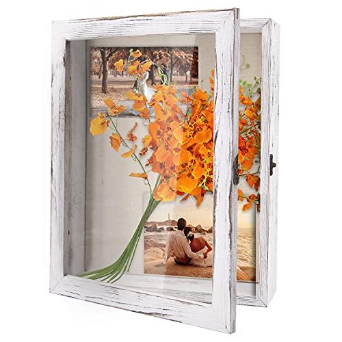 Qlfyuu 11x14 Shadow Box Frame, Wooden Shadow Box Display Case,Large Shadow Box for Flowers,Memorial...