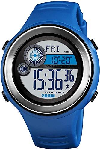 Reloj deportivo para hombre, multifunción, para alpinismo, brújula, cálculo de calorías, monitor de entrenamiento, 12/24 horas, color verde