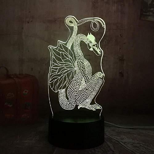 Chinesischen Stil Scherenschnitt Drachen 3D Nachtlicht 7 Farben Ändern Led Tischlampe Weihnachtsgeschenk Alten Drachen Kunst Decor Lampe