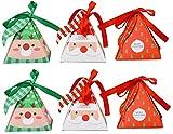 Bolsa de Caramelos,Contenedor de Galletas,Cajas de Cartón Kraft,Cajas de Regalo Navidad,Papel Caramelo,Decoración de Arbol de Navidad