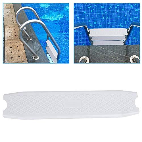 Pedal de Escalera, Plástico Antideslizante Blanco Escaleras de Piscina Escalón Accesorio de Pedal de Repuesto, Buena Capacidad de Carga Peldaño de Escalera, Fácil de Instalar para Spas, Aguas Termales