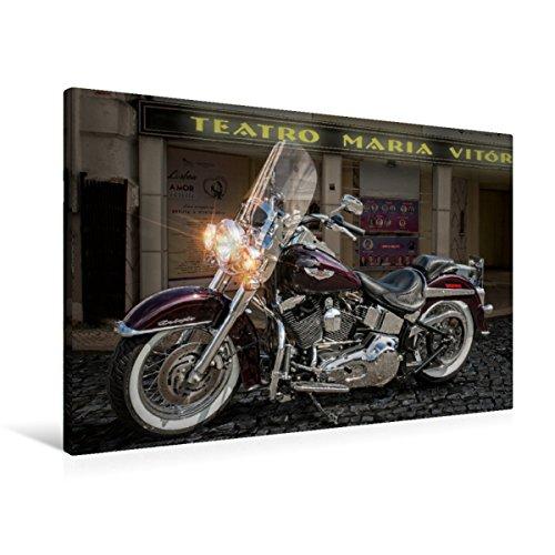 Calvendo Premium Textil-Leinwand 90 cm x 60 cm quer Harley-Davidson Heritage De Luxe | Wandbild, Bild auf Keilrahmen, Fertigbild auf echter Leinwand. von Michael Pohl Technologie Technologie