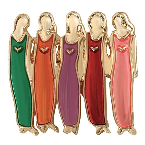 Pin y broche de esmalte para niñas, vintage, para mujer, camisas, solapa
