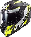 Casco moto LS2 FF327 CHALLENGER SQUADRON MATT HI VIS YELL, Nero/Bianco/Fluo, M