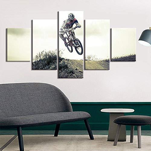 YCCYYYI Stampe artistiche su Tela Pittura Moderna Stampe BMX Racer Poster Immagini Decorazione murale