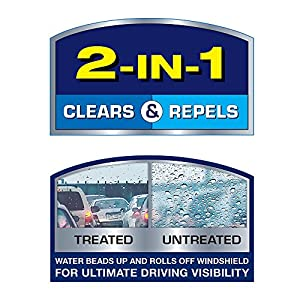 Rain-X 5079281-2 Latitude 2-in-1 Water Repellency Wiper Blade - 26-inches