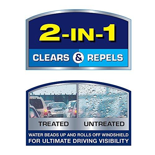 Rain-X 5079280-2 Latitude 2-IN-1 Water Repellency Wiper Blade, 24
