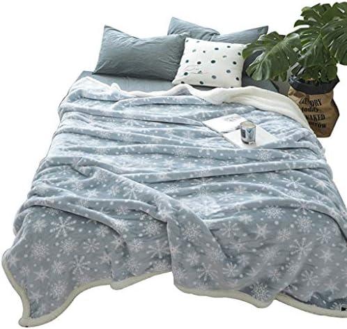 LIQIN Couvertures Imprimé Couverture Couverture Couette Simple Épaissie Coral Velvet Climatisation Couverture Double Nap Couverture (Size : 100 * 120cm)