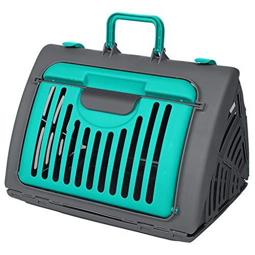 ZZL Transportador Mascotas Mascota Fuera de la Caja de Aire Plegable de la Maleta, se Puede Transportar con Aire, Mochila del Perro del Gato, Verde Mochila Gato (Color : Green)