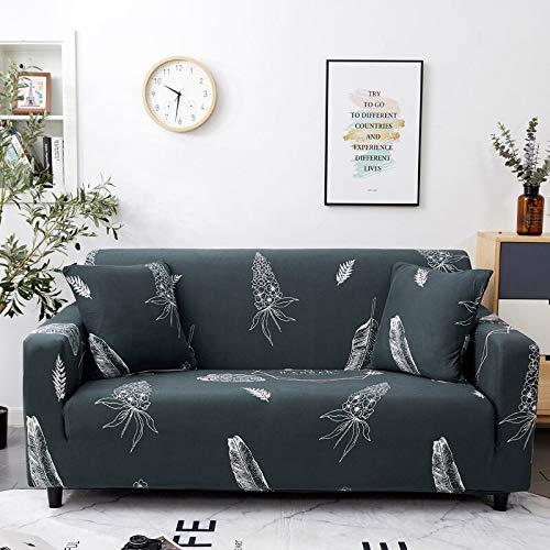 WXQY Funda de sofá elástica Impresa, Funda de sofá, Funda de sofá elástica con Todo Incluido, Utilizada para la Funda de protección de sofá de Esquina A16 2 plazas