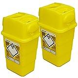 Qualicare Sharps Safe Abwurfbehälter für Spritzen und Kanülen, 1 Liter, 2 Stück -