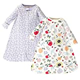 Touched by Nature Baby Organic Long Sleeve Sleeping Bag 2pk, Flutter Garden, 3-9 Months