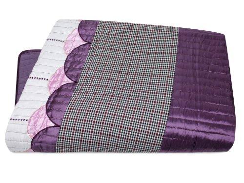 Briljant Tagesdecke moderner Bettüberwurf in 3 eleganten Dessinvarianten - Stoffkombi in gewählten Farbkompositionen - erhältlich in je 4 Größen, Malaga, 280 x 270 cm