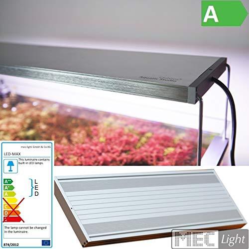 MEC Light Chihiros WRGB LED Aquascape System Silver Edition - Iluminación para Acuario en Diferentes tamaños (WRGB 30 / WRGB45 / WRGB60) Opcional Controlador Commander 4