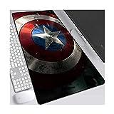 CFTGB Gaming Mouse Pad Grande Alfombrillas de Ratones The Avengers superhéroe Capitán América Estera del Juego de Teclado extendido Mousepad for PC del Ordenador Alfombrilla de ratón