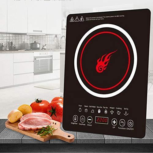 ZHSHOP Induction Cooker Induktionskochfeld Home Smart Hohe Leistung 2200W Sensor Touch Induktions kochplatte Mini Integriert Kochfelder Elektro