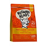 Meowing Heads Dry Cat Food - Paw Lickin' Chicken - 100% Natural Chicken and Fish with No Artificial Flavours, Good for Healthy Digestion, 450 g