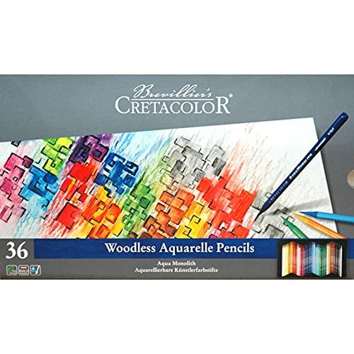 Cretacolor Aqua Monolith Watercolor Pencil Set, 36 Stk, Multi