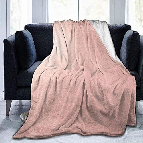 CVMFE Throw Blanket,Blush Rose Gold Ombre,Warm Ultra Soft Flannel Fleece Light Weight Blanket Sofa Bed Living Room Bedroom for Adult Children