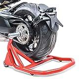Bullone in alluminio con cuscinetto a sfera per una facile rotazione della ruota posteriore sul cavalletto posteriore. Sollevamento sicuro e semplice della motocicletta per la pulizia, l'assistenza e le riparazioni