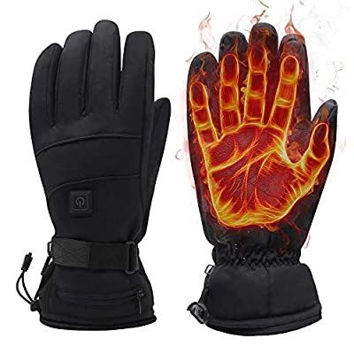 Greensha Rechargeable Electric Battery Heated Gloves for Men&Women,Outdoor Indoor battery powered Hand Warmer,Novelty Thermal Gloves for Hiking Skiing Cyclingg