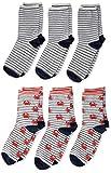 Camano Jungen 1106028000 Socken, Rot (True Red 3500), 31-34 (Herstellergröße: 31/34) (6er Pack)