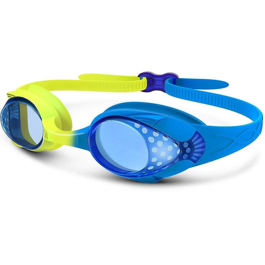 を通してホバー矢OUTDOORMASTER一年保証 スイミングゴーグル 子ども用 スイムゴーグル 水泳ゴーグル 曇り防止 UVカット100% 水漏れ防止 抗菌素材 ベルト調節簡単 装着快適 水中メガネ 4-12歳 多色