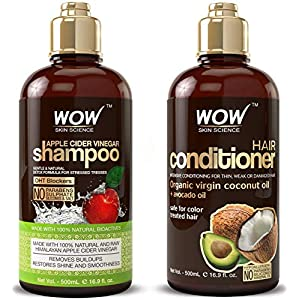 Beauty Shopping WOW Apple Cider Vinegar Shampoo & Hair Conditioner Set –