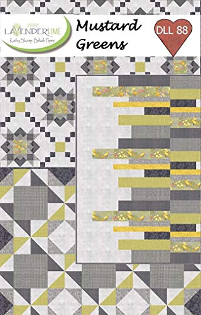 Lavender Lime Quilting DLL88 Mustard Greens Pattern