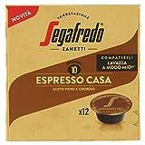 Segafredo Zanetti 12 Capsule Compatibili A Modo Mio, Linea Le Classiche Espresso Casa, Gusto Pieno e Cremoso, 1 Astuccio da 12 Capsule