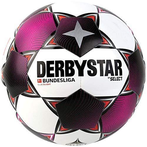 Derbystar Unisex Jugend Bundesliga Club S-Light Fußball, Weiss Magenta grau, 5