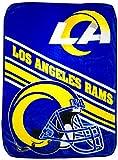 The Northwest Company NFL Los Angeles Rams Slant Raschel Throw Blanket, 60' x 80' (1NFL080741083RET)